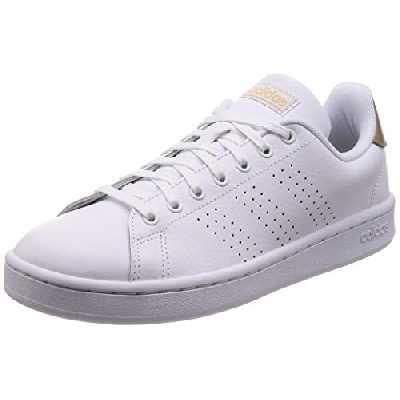 adidas Advantage, Chaussures de Fitness Femme, Blanc (Ftw Bla/Ftw Bla/Co B Met 000), 40 EU