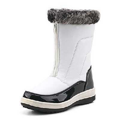 Shenji Bottes Femme Fourrées Après Ski Hiver Boots Doublure Chauds H7628 Blanc 37