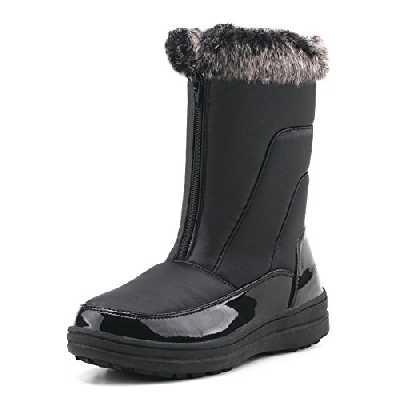Shenji Bottes Femme Fourrées Après Ski Hiver Boots Doublure Chauds H7628 Noir 37
