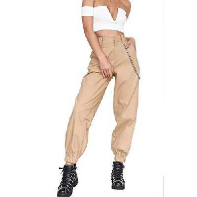 Pantalon Cargo Femme Taille Haute Style Hip Hop Streetwear Baggy Harem Pants Straight Trousers Biker Punk Rock Pantalon a Chaine de Danse Sportive Travail Jogging Quiksilver Legging Large Sweatpants