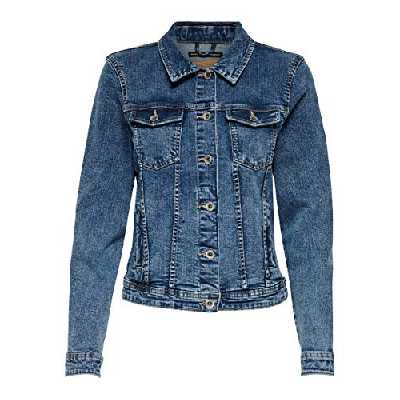 ONLY NOS Onltia DNM Jacket BB MB Bex02 Noos Veste en Jean, Bleu (Medium Blue Denim Medium Blue Denim), 40 (Taille Fabricant: 38) Femme