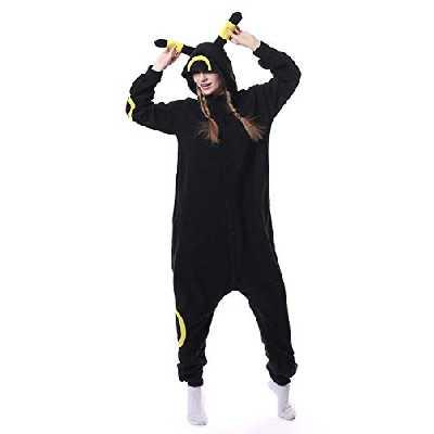 Unisexe Cartoon Animal Pyjama Cosplay Costume Adulte Capuche V괥ments De Nuit Parti Anime V괥ments De Nuit,M,Noir