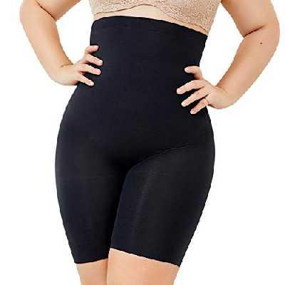 DELIMIRA Femme Short Gainant Sculptant Taille Haute Effet Amincissant et Ventre Plat Noir 48-50