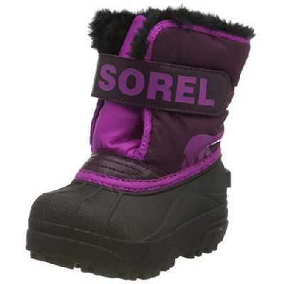 Sorel Bottes d'Hiver Unisexes pour Bébés, TODDLER SNOW COMMANDER, Violet (Purple Dahlia, Groovy Pink), Taille : 22