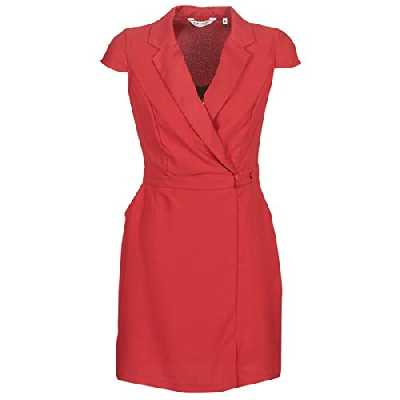 Naf Naf ESMOK R1 Robe Femme Rouge (Rubis Aaqs) 42 (Taille fabricant:42)