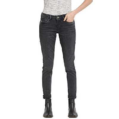 Pepe Jeans Pixie Echarpe, Noir (Black Wiser Wash Denim Wz7), 26W / 30L Femme