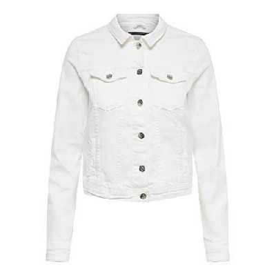 ONLY NOS Onltia DNM Jacket BB Col Bex168a Noos Veste en Jean, Blanc (White White), 42 (Taille Fabricant: 40.0) Femme