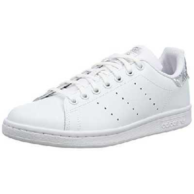 adidas Stan Smith J, Chaussures de Gymnastique Mixte, Blanc (FTWR White/FTWR White/Core Black FTWR White/FTWR White/Core Black), 38 EU