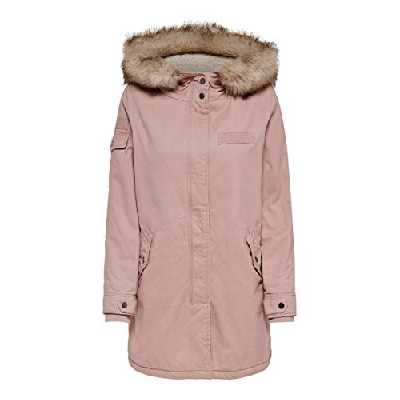 ONLY Onlmay Fur Canvas Parka CC OTW, Rose (Misty Rose Misty Rose), 42 (Taille Fabricant: Large) Femme