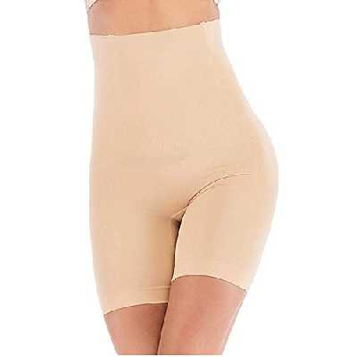 ANGOOL Culottes Sculptantes Femme Taille Haute Minceur Gainante Amincissante Ventre Plat Invisible Panty Abdominale Récupération Slip, Ecru, XL