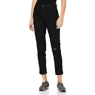 Dorothy Perkins Mom Jean-Regular Length Skinny, Noir (Black 010), 36 (Taille Fabricant: 8) Femme