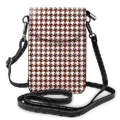 Goxegag Sac pour téléphone en cuir ultra-fonctionnel, sac de voyage léger avec bandoulière petite et bandoulière avec sangle réglable pour femme - Oxyde de pied de coq