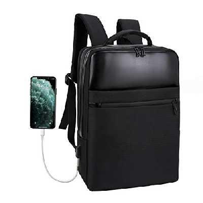Xnuoyo Antivol Sac à Dos Ordinateur Portable 15,6 Pouces Imperméable avec USB Charging Port Rucksack d'affaires Laptop Backpack Fonctionnel Bagback PC Portable pour Loisirs, Affaire, Scolaire(Noir)