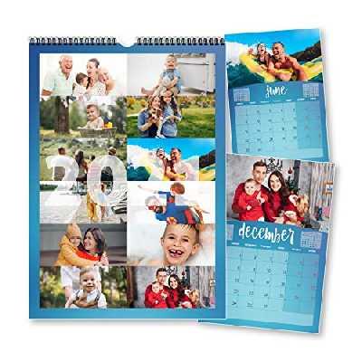 Calendrier 2020 personnalisable, 12 photos, une photo par mois, pour planification quotidienne, hebdomadaire et mensuelle, cadeau pour amis, famille, Noël, nouvel an