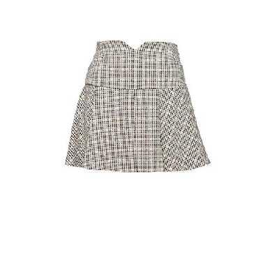 PATRIZIA PEPE Mini jupe pied de poule 2G0742A5T4 - Ecru - 40