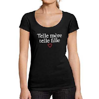 Ultrabasic - Femme Telle Mere Telle Fille Imprimé Tee-Shirt Noir Profond