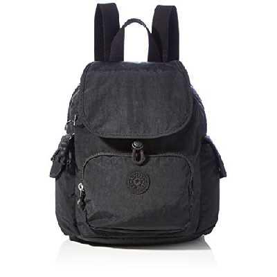 Kipling City Pack Mini, Backpacks Femme, Noir, 14x27x29 cm