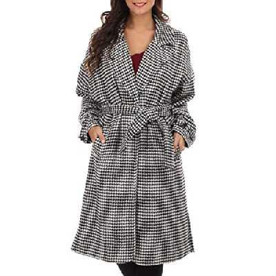 La Modeuse - Manteau Droit à Motif Pied de Poule