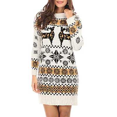 La Modeuse - Robe pull jacquard de Noël