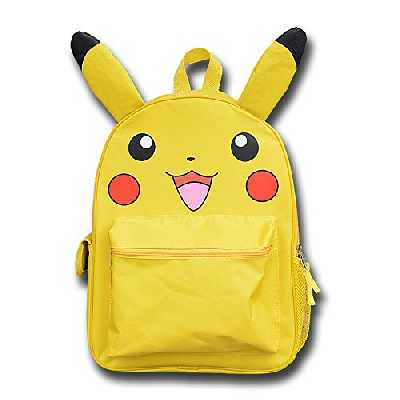 YUIOP Sac À Dos Jaune Pokemon Pokémon Sac À Dos Poche Sac D'École Pour Hommes Et Femmes Sac À Dos Pikachu