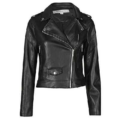 Morgan Perfecto Imitation Cuir Gaby Faux Leather Jacket, Noir, T42 Womens