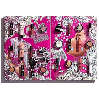 NYX Professional Makeup - Calendrier de l'Avent Maquillage - Diamonds & Ice Please, 24 Produits, Sélection de Maquillage Yeux, Lèvres et Visage