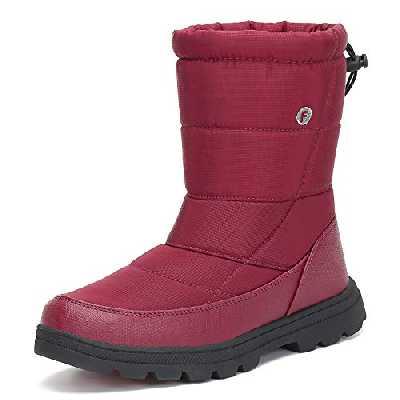 Mishansha Femme Bottes de Neige Chaude Chaussure Apres Ski Antidérapant Bottes Fourrées Bottes Grand Froid Extérieur Boots Hiver, Rouge 39