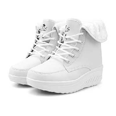 Femmes Bottes Hiver Bottines de Neige Hommes Plates avec Fourrure Chaude en Tissu Imperméable Chaussures Intérieur Fourrée Confortable Boots Shoes 35-42 EU