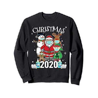 Noël 2020 - Père Noël et amis portant un masque Sweatshirt