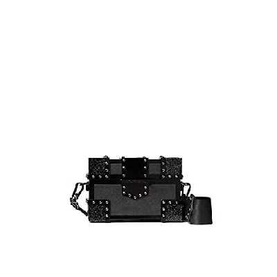 KARL LAGERFELD sacs negro Plexi Treasure Minaudiere
