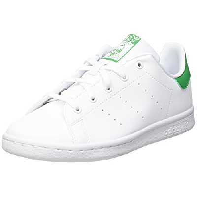 adidas Stan Smith, Sneaker, Cloud White/Cloud White/Green, 36 2/3 EU