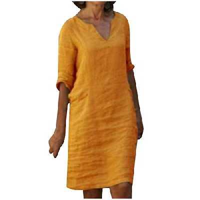 2021 Nouveau Robe Longue Femme Été Boheme Fleuri Maxi Robe de Plage Femme Grande Taille Robe de Soirée Femme Chic Robe Cocktail Femme Manche courte Tunique Femme Pas Cher JIekyoi