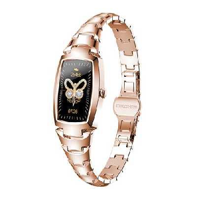 Montre Connectée Femme Bracelet Bijou Intelligent - Tracker   Pression Sanguine   Cardiofréquencemètre   Podomètre   Oxygène - Smartwatch IP67 iPhone iOS Android Notification Appels SMS