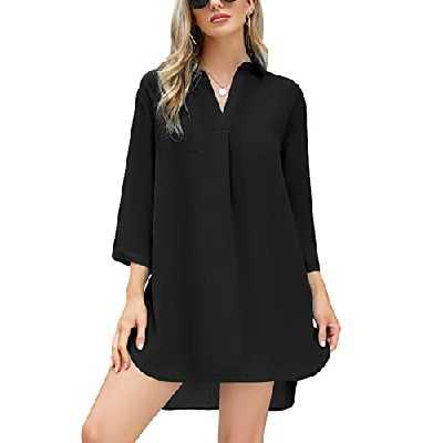 Irevial Maillot de Robe Femme Robe de Plage pour Cache-Maillots et Sarongs Femme Courte Maillot Robe de Plage Eté Bikini Cache-Maillots Robe