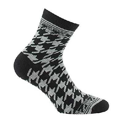Kindy - Socquettes femme motifs pied de coq MADE IN FRANCE - couleur - Gris - Pointure - 37-41