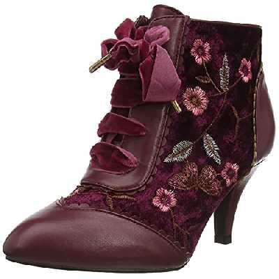 Joe Browns Memories of Venice Ankle Boots, Bottine Femme, Rouge foncé, 40.5 EU