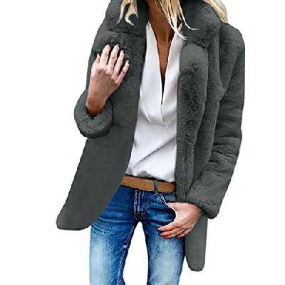 Dasongff Mode Femme Manteaux Vestes Teddy Sweats Noël Cape Femme Manteau Polaire Chaud Col Roulé Tops Chapeau Mode Grande Taille Hiver Veste Outwear Manteaux et Blousons