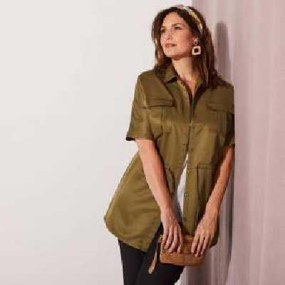 Isabella Surchemise saharienne - Kaki - Taille : 44 - Blancheporte