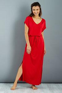robe longue rouge kiabi