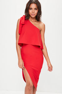 robe rouge mariage missguided