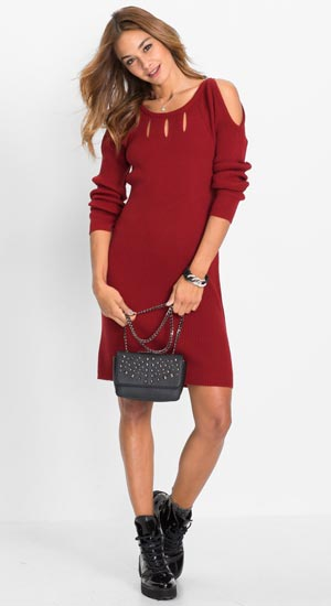 robe pull bordeaux