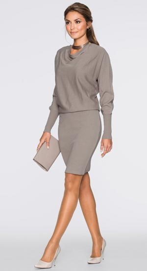 robe pull gris classe