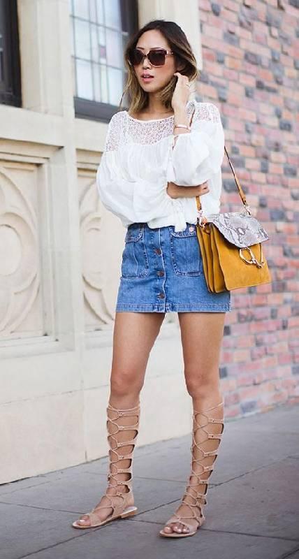 Comment porter des spartiates avec une jupe