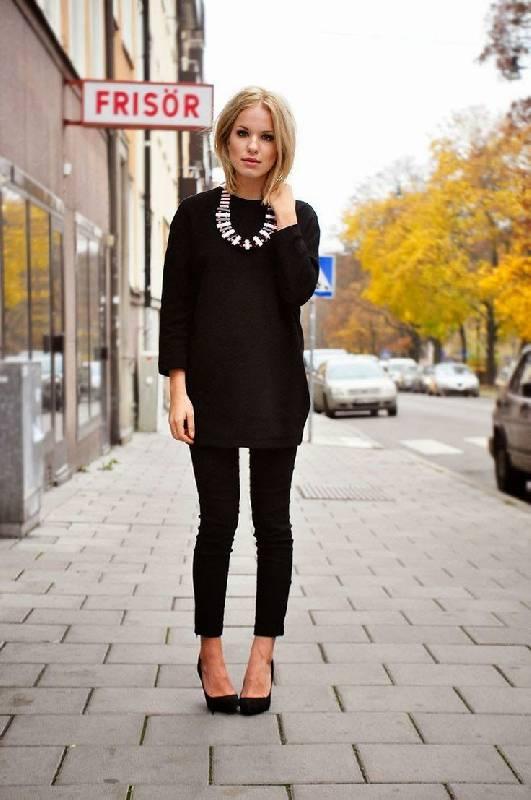 tenue noire bijoux