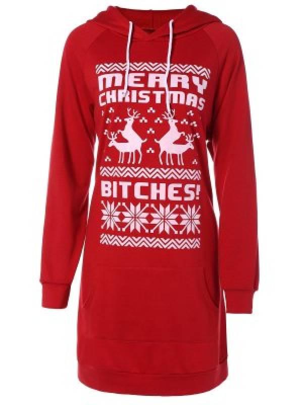 hoodie robe Noël moche