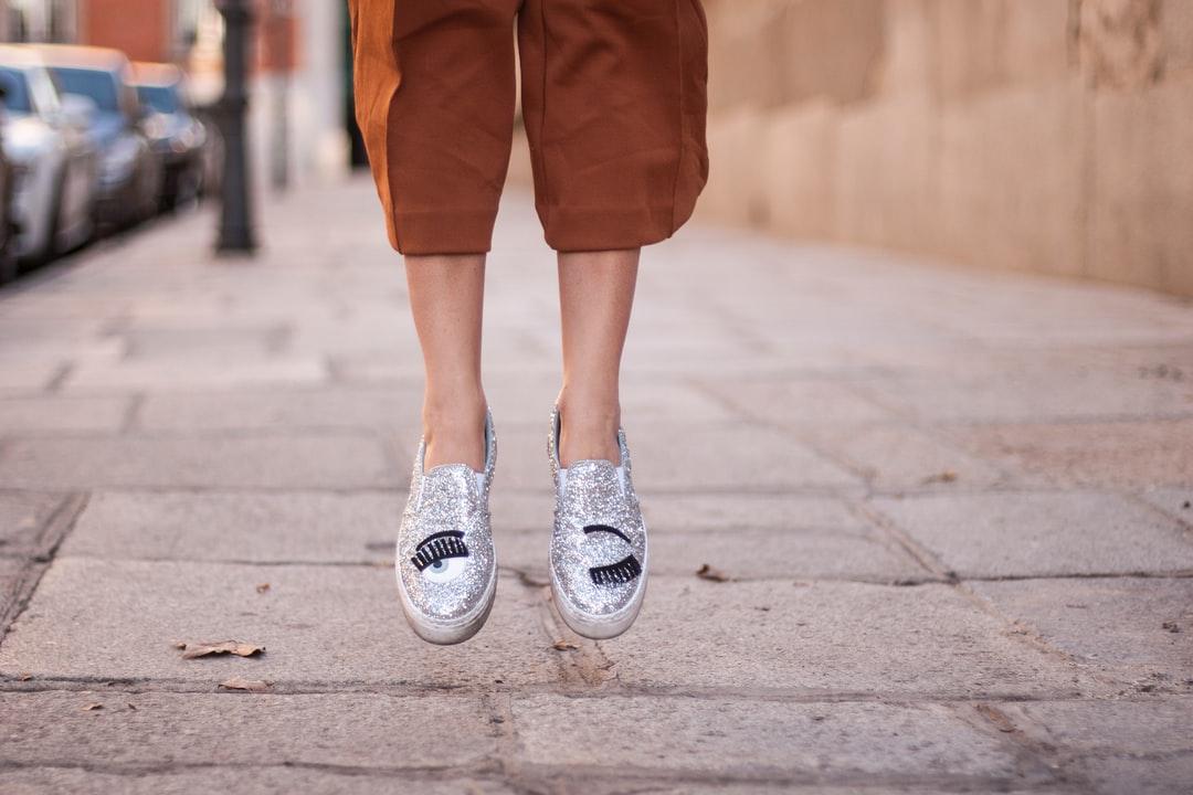 chaussures metallisées tendance
