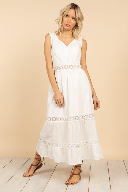robe longue blanche deeluxe