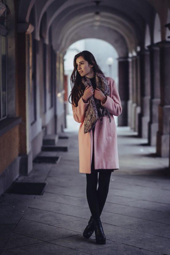 manteau foulard femme